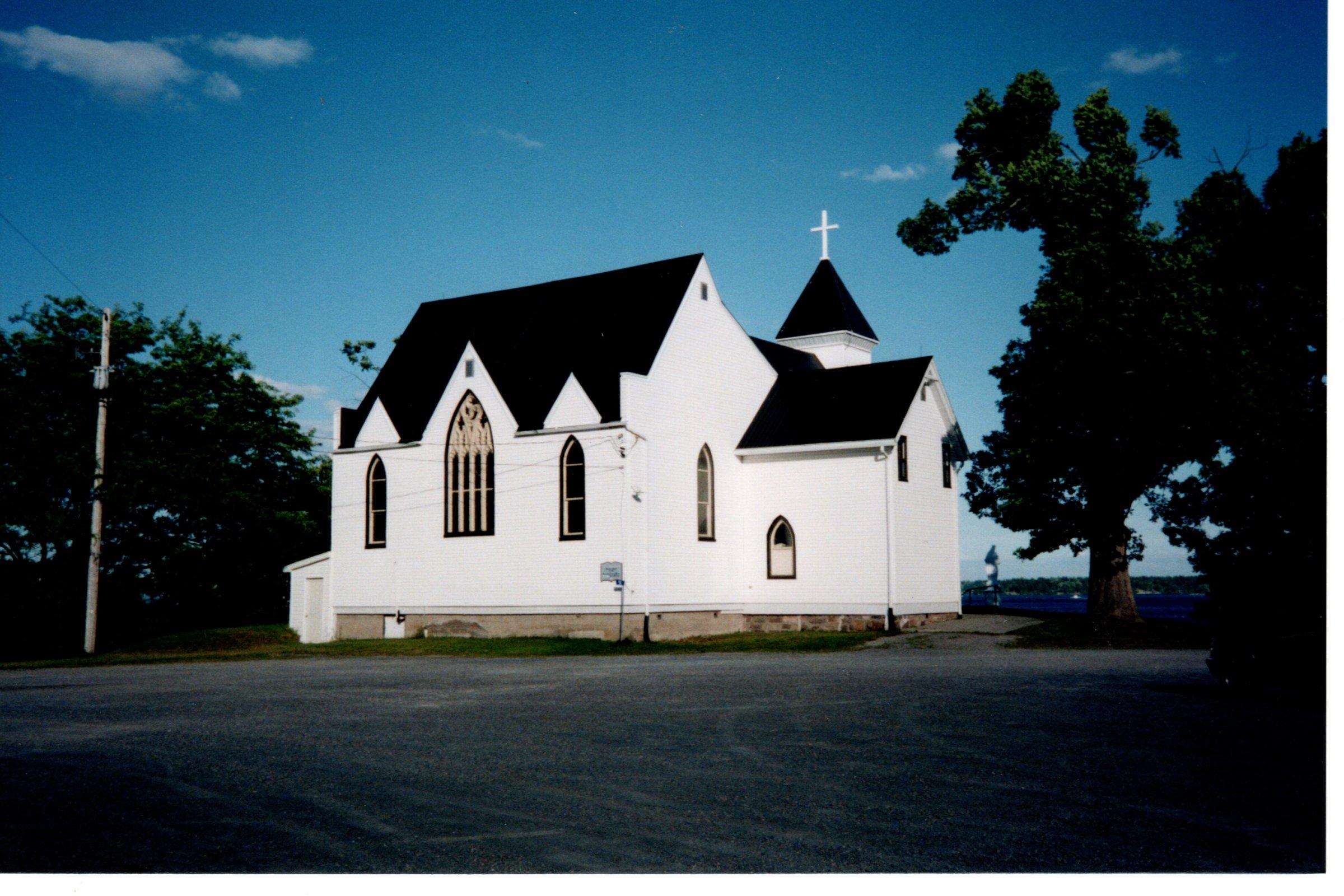 St. Brendan's parking lot view of church